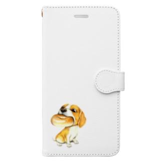 ビーグル×ベーグル Book style smartphone case