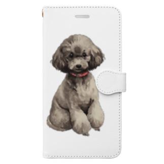 トイプードルさん Book style smartphone case