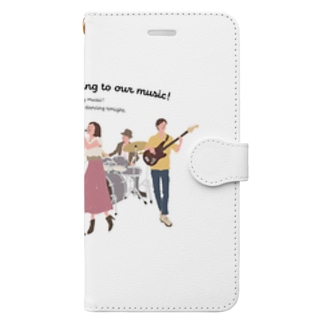 love music Book style smartphone case