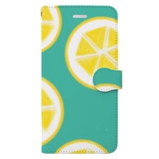 レモン Book style smartphone case