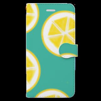 Favoriのレモン Book style smartphone case