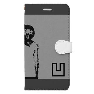 monoshopのおじさん凹み Book-style smartphone case
