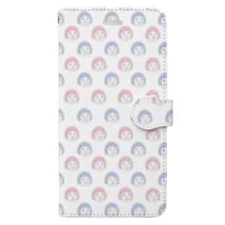 憎めないブスゆめかわ Book style smartphone case