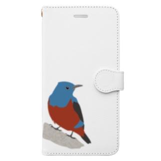 イソヒヨドリ Book-style smartphone case