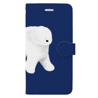不思議なワンちゃん Book-style smartphone case