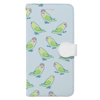 歩きコザクラインコ Book-style smartphone case