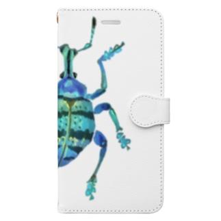 ホウセキゾウムシ Book style smartphone case