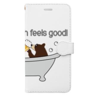 ビールベアー イン バブルバス Book-style smartphone case