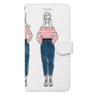 ウォーリー女子 Book style smartphone case