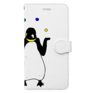 ジャグラーペンギン1 動物イラスト Book style smartphone case