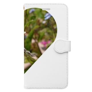 フラワーbee Book-style smartphone case