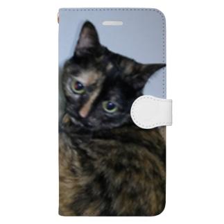 セクシーにゃんこビオラちゃん Book-style smartphone case