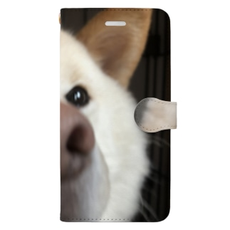 鼻でからんまるくん Book-style smartphone case