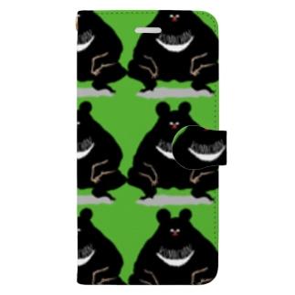 くまちゃんず Book style smartphone case