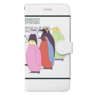 ペンギンの護衛チーム Book-style smartphone case
