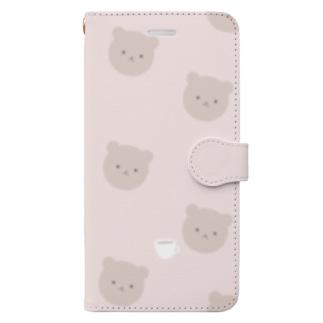 くまさんカフェ Book-style smartphone case