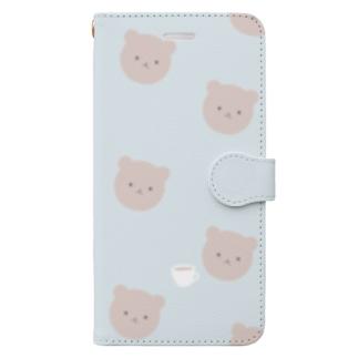 くまさんカフェ Book style smartphone case