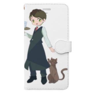 バーテンダー×ネコ Book-style smartphone case
