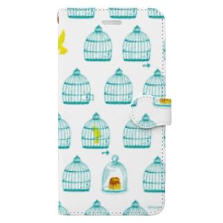 鳥かご Book-style smartphone case