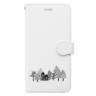 ゆきのふるまち Book style smartphone case