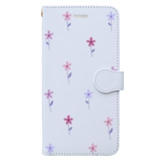 花柄 Book style smartphone case