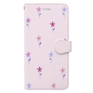 花柄 Book-style smartphone case