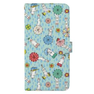 晴れ待ちうさぎ Book-style smartphone case
