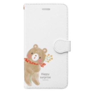 Happy surprise Book style smartphone case
