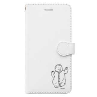 新生児(タレ目) Book-style smartphone case