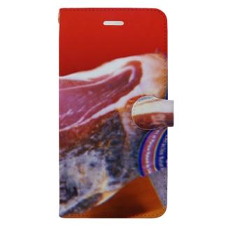 生ハムの原木 Book-style smartphone case