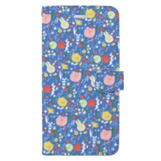 まるいともだちとおはな Book style smartphone case