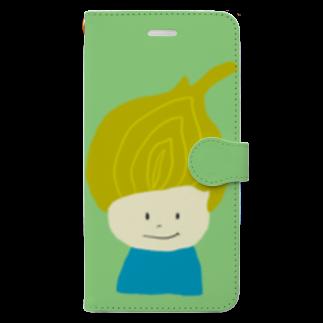 Zakuro-KayokoKawataのタマネギ坊や Book-style smartphone case