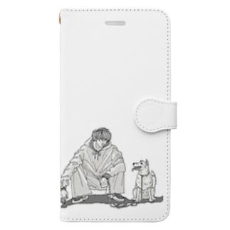 お散歩に行こうか Book-style smartphone case