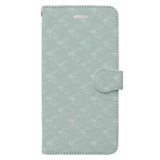 ウサな手帳型ケース(アイスミント) Book-style smartphone case