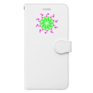 Miracke Happy Bareのバード Book-style smartphone case