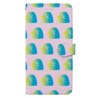 おばけグラデーション Book-style smartphone case