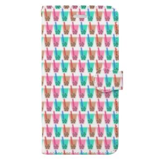 よくみるとめっちゃタピオカドリンク Book-style smartphone case