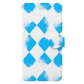 青ちょきちょき Book-style smartphone case