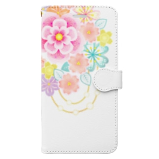 花かんざし02 Book style smartphone case