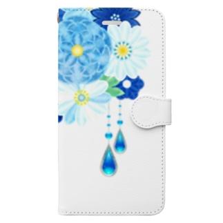 花かんざし03 Book style smartphone case