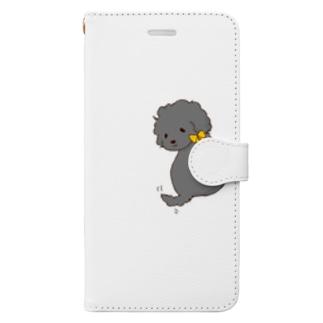 振り返るあざとい子 Book-style smartphone case