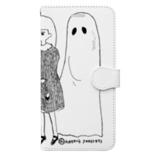 おばけなんてないさ Book-style smartphone case