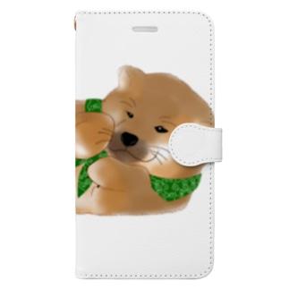 しば(どでか) Book-style smartphone case