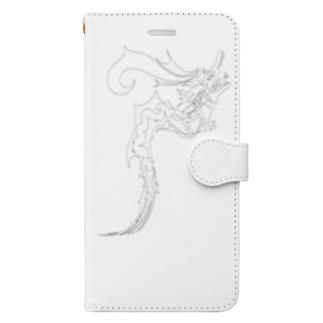 ドラゴン3塗り絵デザイン Book-Style Smartphone Case