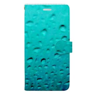 水滴に一片 Book-style smartphone case