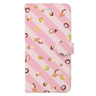 ドーナッちゅん ぴんく Book-style smartphone case