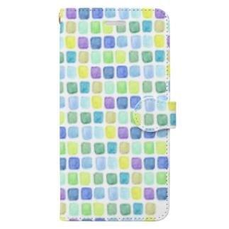 水のタイル Book-style smartphone case