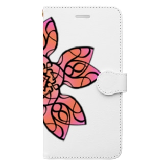 【Side fallen】曼荼羅華 桜 Book-style smartphone case