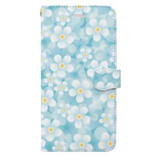 爽やかお花のスマホケース Book-style smartphone case