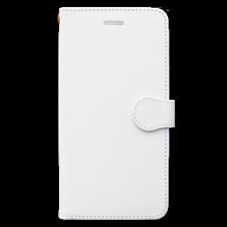 お絵描き看護師のレオパードゲッコーロゴグッズ Book-style smartphone case